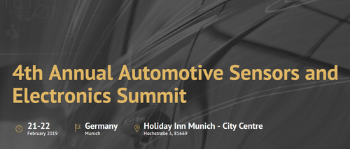 ADS will pitch at Automotive Summit (21-22 Feb. Munich)