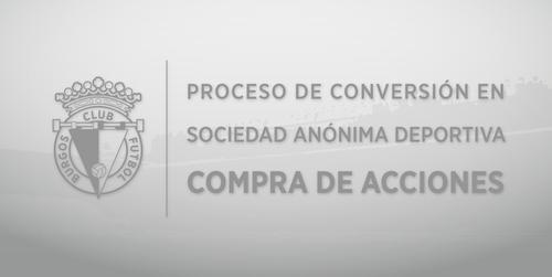 Proceso para la adquisición de acciones del Burgos Club de Fútbol