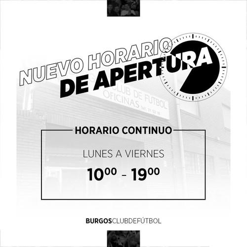 NUEVO HORARIO DE ATENCIÓN AL PÚBLICO
