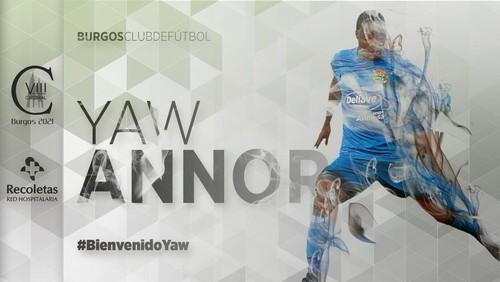 El Burgos incorpora al extremo sub'23 Yaw Annor