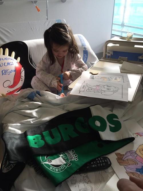 La Plantilla del Burgos Club de Fútbol visita el HUBU