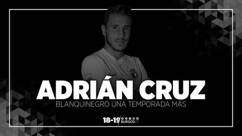 ADRIÁN CRUZ RENUEVA CON EL BURGOS CF