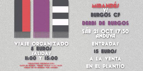 Viaje y entradas para el Derbi de Burgos