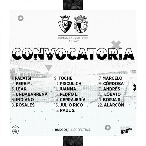 Convocatoria para el desplazamiento a Pamplona