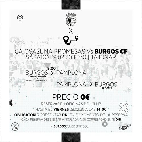 El club pagará el autobús a Pamplona a sus aficionados