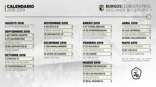 El Burgos CF 2018/2019 debutará en El Toralín
