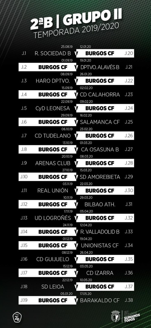 El Burgos debutará el 25 de agosto ante la Real Sociedad B