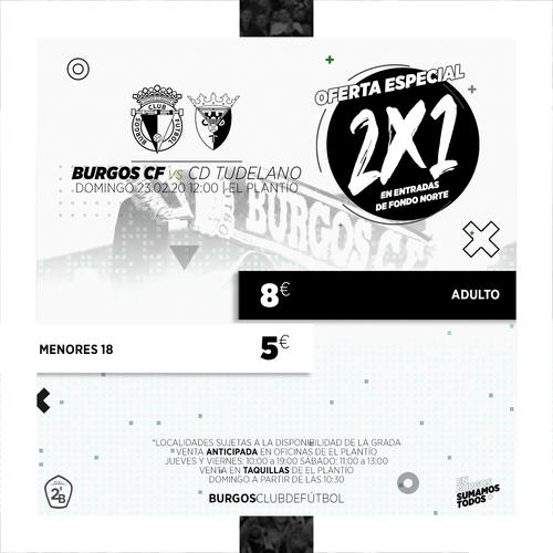 2x1 en entradas de Fondo Norte ante el Tudelano