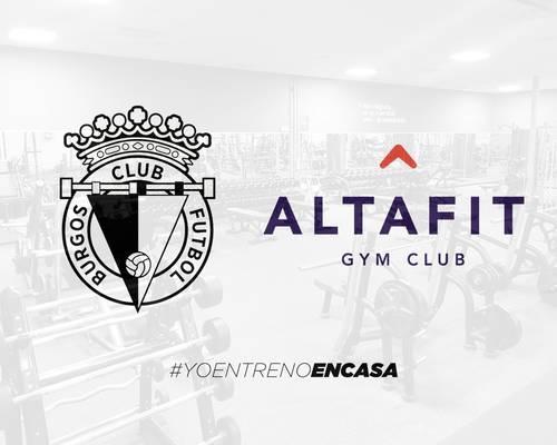 Altafit facilita el entrenamiento de la plantilla del Burgos CF