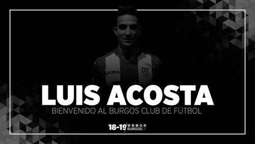 LUIS ACOSTA FIRMA POR DOS TEMPORADAS CON EL BURGOS CF