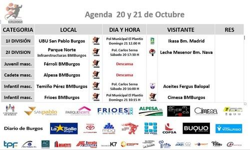 Agenda 20 y 21 de Octubre