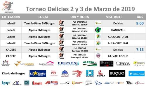 Temiño Pérez y Alpesa disputan el torneo solidarios de carnaval de BM. Delicias