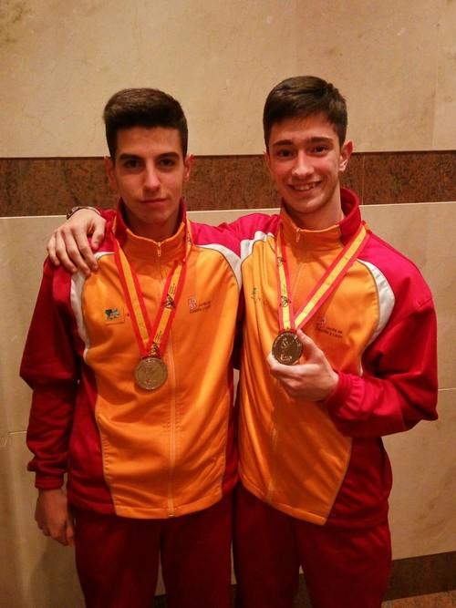 Marcos García y Diego Alonso consiguen la plata en el campeonato de España con Castilla y León