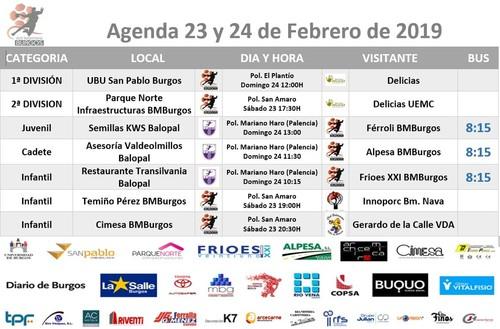 Agenda de partido para el 23 y 24 de Febrero