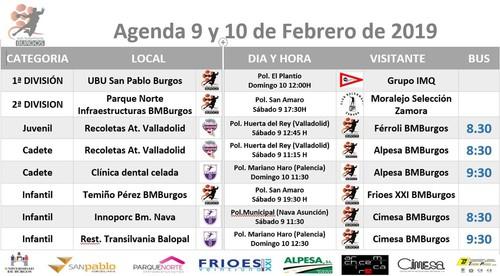 agenda del fin de semana 9 y 10 de febrero