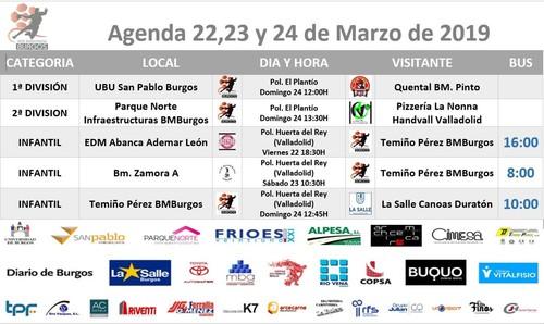 Agenda de partido para el 23 y 24 de Marzo