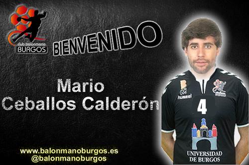 Mario Ceballos Calderón nuevo jugador de Universidad de Burgos