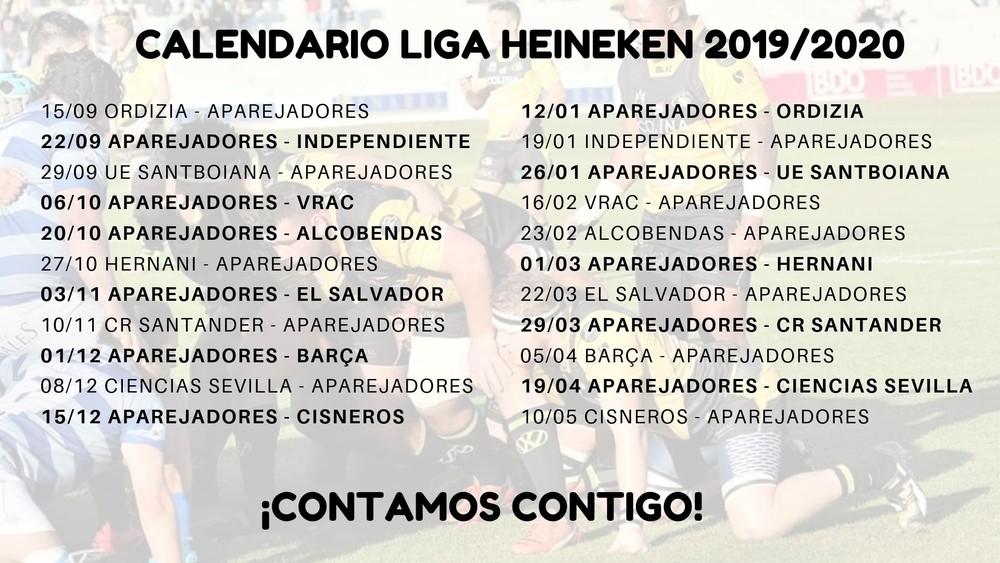 Calendario DH 2019/2020
