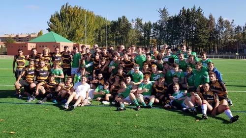 Hermanamiento del partido entre nuestro equipo CD APAREJADORES RUGBY BURGOS  & ACADEMIA SANT LOUIS GONZAGA DE DUBLIN