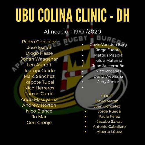 Alineaciones DH y SUB23 contra Aldro Independiente Rugby