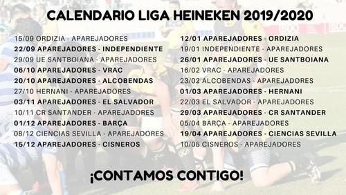Calendario Liga Heineken 2019/2020