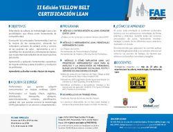 II Edición Certificación Lean Yellow Belt