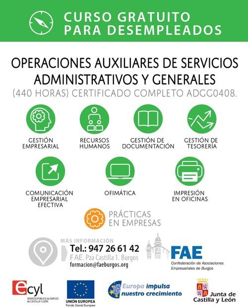 Curso completo.Operaciones auxiliares de servicios administrativos y generales