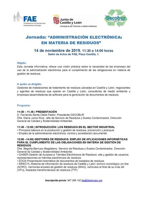 Administración electrónica: en materia de residuos