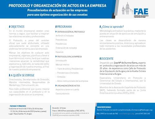 Curso Protocolo y Actos en la Empresa