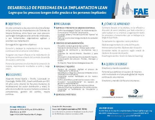 Curso Desarrollo de personas en la implantación LEAN