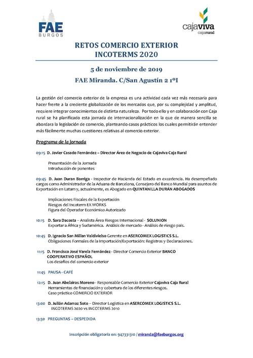 RETOS COMERCIO EXTERIOR INCOTERMS 2020