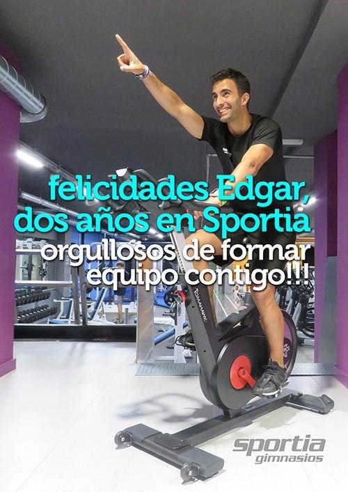 Edgar Rodríguez, 2 años en Sportia Gimnasios