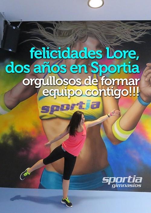Lore cumple 2 años en Sportia Gimnasios