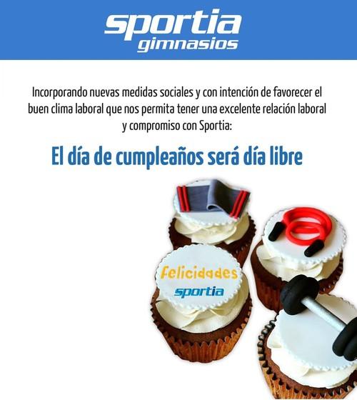 En Sportia tu cumpleaños es ¡DÍA LIBRE!