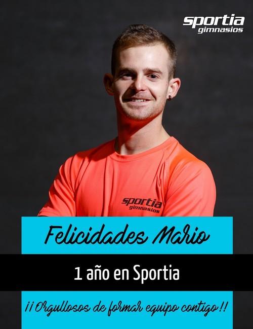 Mario cumple 1 año en Sportia