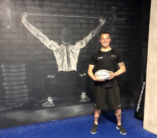 Diego Montes, entrenador de Sportia y preparador físico del flamante equipo de División de Honor de Rugby, el UBU Colina Clinic
