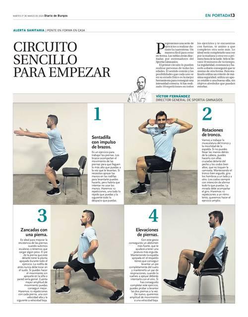 Entrenamiento para sedentarios en el Diario de Burgos