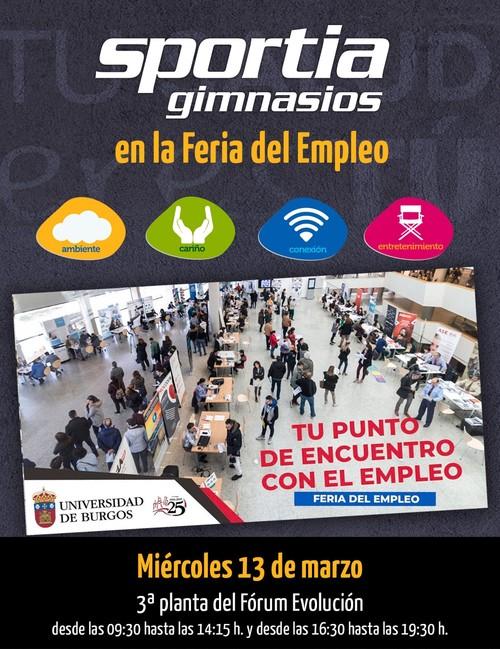 Sportia Gimnasios, en la Feria del Empleo de la UBU