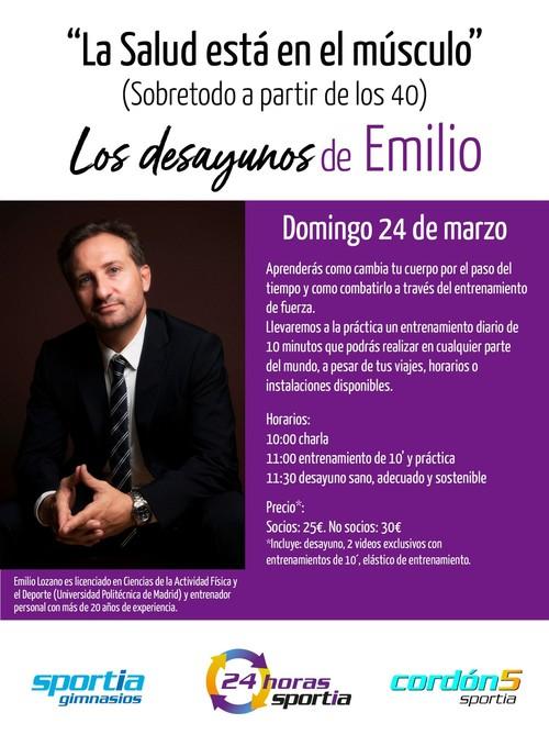 Los Desayunos de Emilio: La Salud está en el músculo