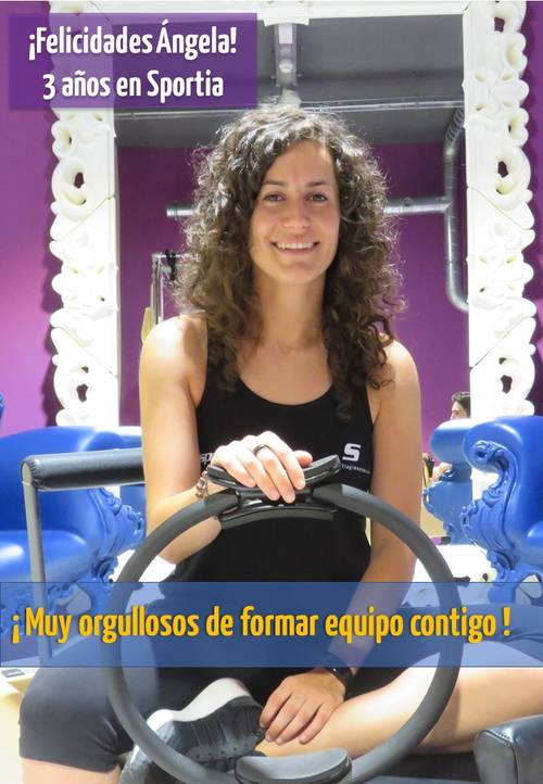 Aniversario de Ángela: 3 años en Sportia Gimnasios