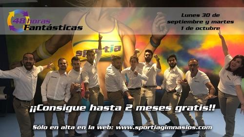 ¡¡48 horas Fantásticas en Sportia Gimnasios!!