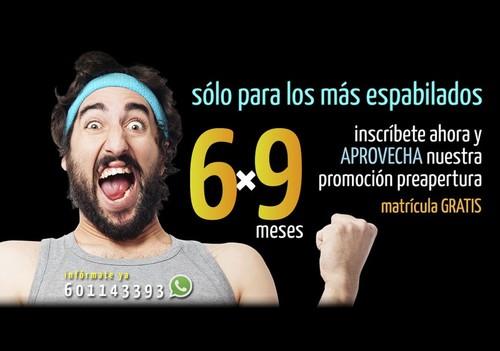 Promoción Preapertura 6×9: paga 6 meses, disfruta 9