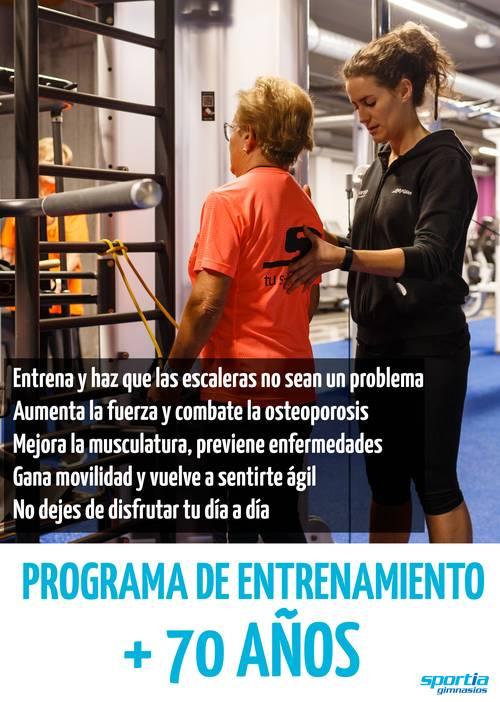 Programa de entrenamiento +70 años