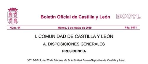 Sportia Cumple Con La Nueva Ley De Actividad Físco-Deportiva de Castilla y León