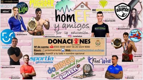 HomEF y amigos por la educación, Mario Ureña nos lleva de Bingo Benéfico